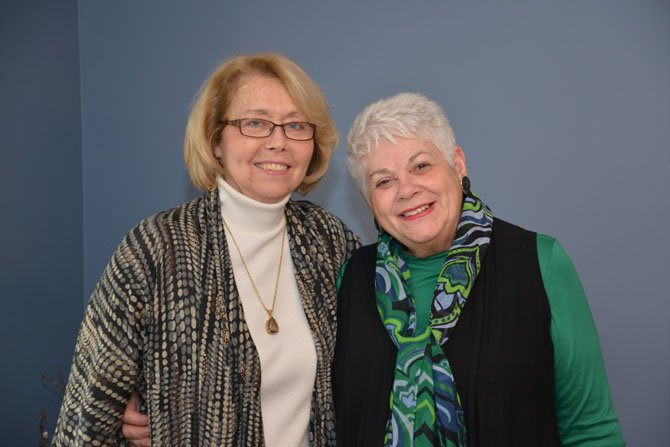 From left - Mary Jo Smrekar and Sue Ries Lamb have been sharing a journey of spirituality and community, exploring and learning about themselves and helping other women find and express their own voices throughout their 40-year plus friendship.