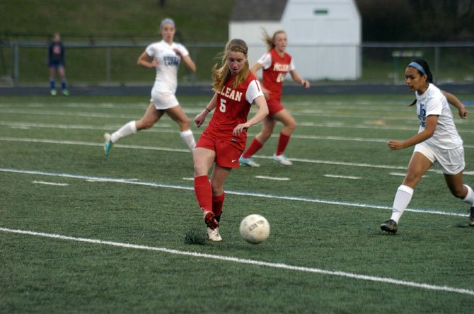 Senior Maire Shine is the McLean girls' soccer team's leading goal-scorer with four through six games.