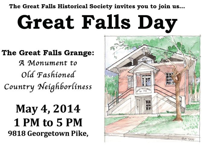 A flyer announcing The Great Falls Day.