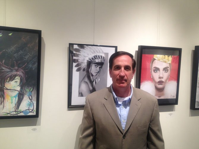 "Executive Director of the ArtSpace Herndon Lawrence ""Larry"" Verbiest at the gallery of the ArtSpace Herndon located on 750 Center Street."