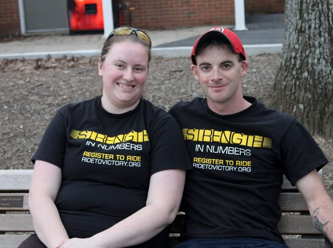 Lorton residents Kim and James Reno, graduates of West Springfield High School, hope to raise $5,000 dollars each for the Ride to Conquer Cancer in September.