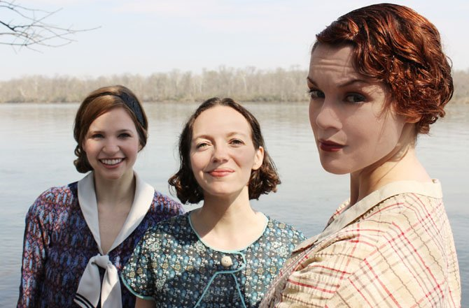 "From left --Maggie Erwin, Tia Shearer and Carolyn Kashner in Hub Theatre's ""Failure: A Love Story."""