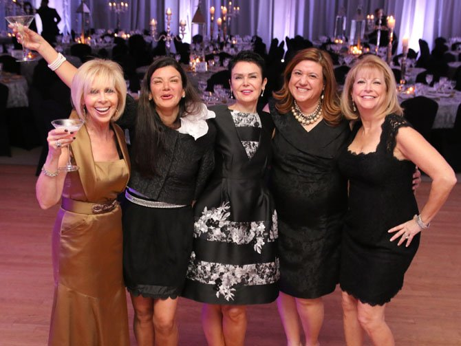 Wendy Katzen, Yve Dinte, Micki Niakani and Robin Hammer at B'nai Tzedek's 25th anniversary gala.