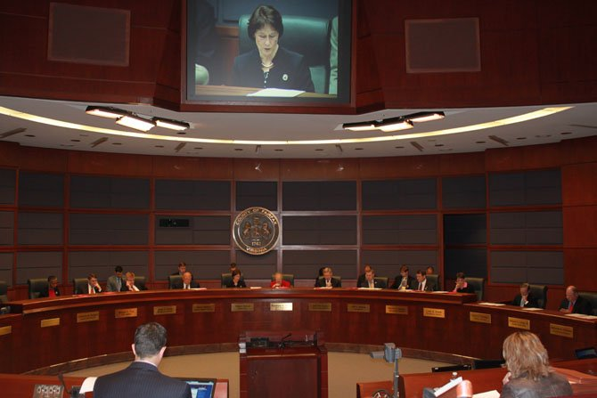 The Board of Supervisors met to approve the FY 2015 budget markup on April 22.