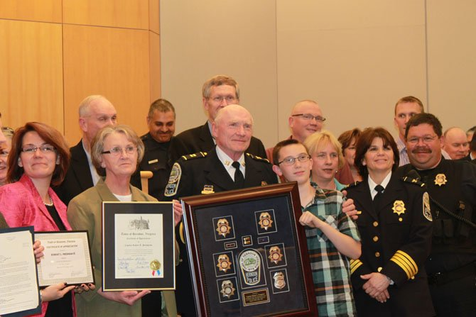 The Herndon Town Council and Herndon Police Department recognized Captain Presgrave's work on April 22.