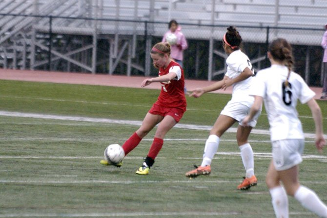 McLean senior Maire Shine assisted the game-tying goal in the 53rd minute and scored the game-winner in overtime against Madison on April 28.