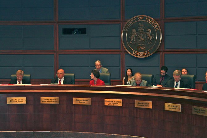 The Board of Supervisors passed the county budget in a 7-3 vote.