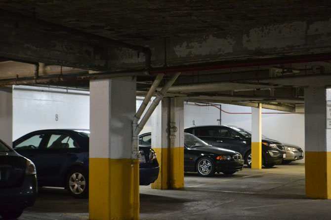 Fairfax County police warn residents to not park their cars in vacant dark areas.