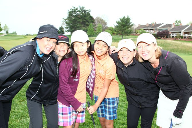 Girls from The First Tee summer program enjoyed meeting local women golfers.