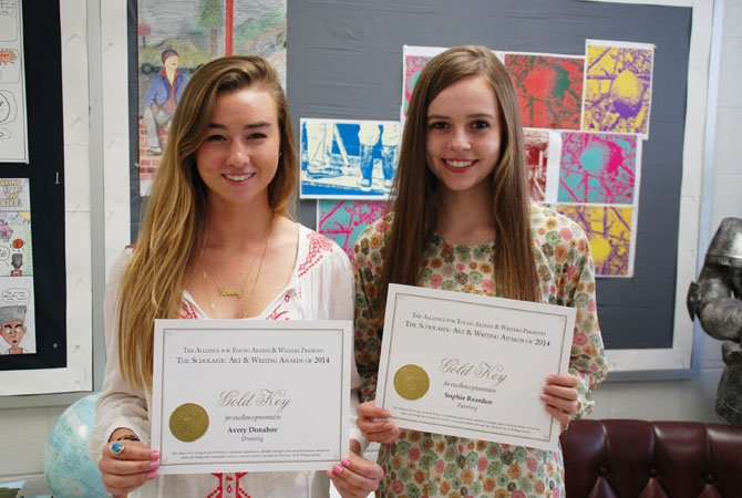 Avery Donahoe and and Sophie Reardon earned national recognition in the 2014 Scholastic Art & Writing Awards.