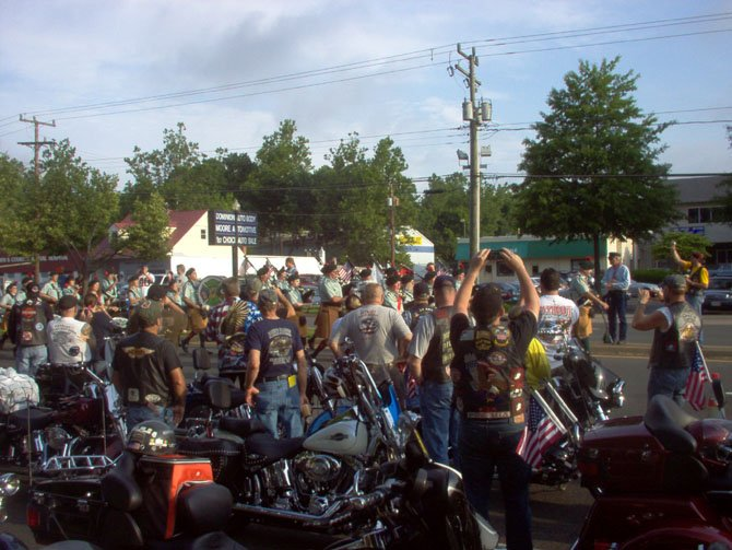 Thousands of motorcyclists and spectators line Lee Highway in the City of Fairfax on the Sunday before Memorial Day to commemorate the holiday with the Ride of the Patriots, based at Patriot Harley Davidson.