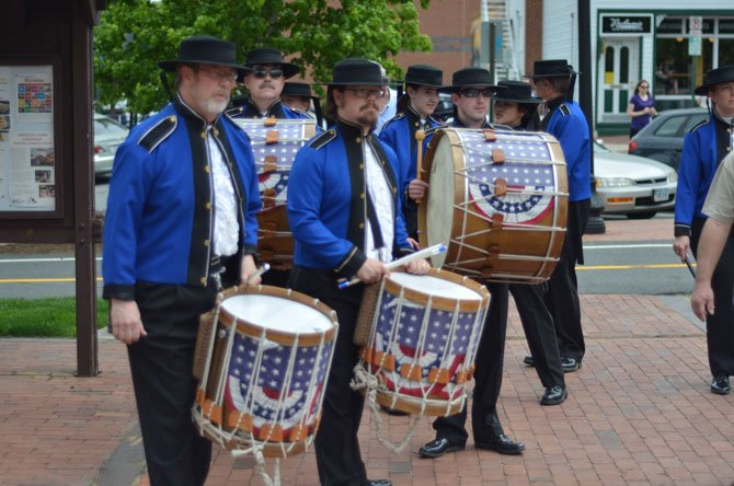 Members of the American Originals Fife and Drum Corps played in front of the Herndon Depot Station on Saturday, May 10 at noon. This show was to kickoff a fundraiser event sponsored by Potter's Fire.