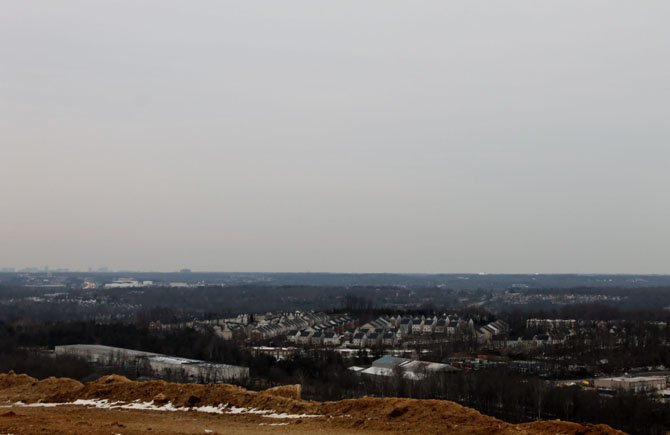 A view from the top of the landfill in Lorton. If the new application is approved, the landfill will operate until 2034.