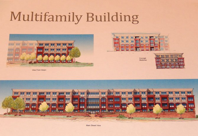 Preliminary artist's rendition of the proposed multifamily (apartments) building.