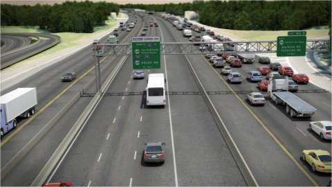 Existing HOV lanes will be expanded from two to three lanes from Edsall Road in Springfield on I-395 to Prince William Parkway.