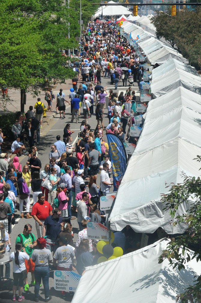 Thousands of visitors and residents enjoyed the annual Taste of Arlington in Ballston on Sunday afternoon, May 18.