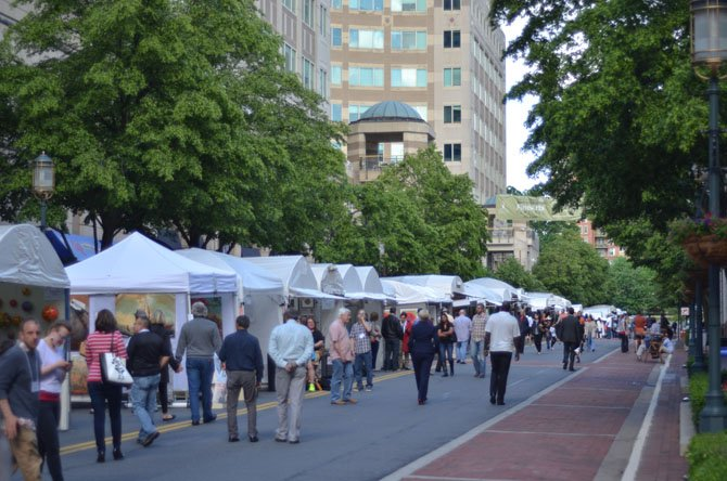 The streets of Reston Town Center were full of visitors seeing the booths displaying the crafts and works of artists from May 16 to May 18.