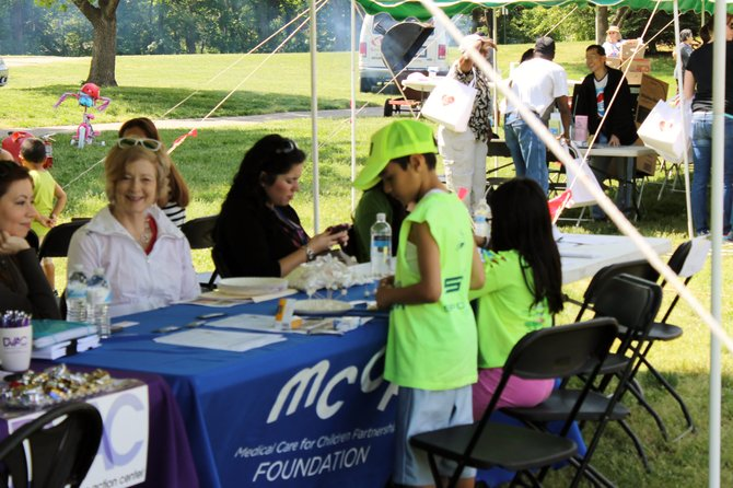 At the Hope and Health Festival on May 17, families received health and nutrition info, health screenings, and free food and games.