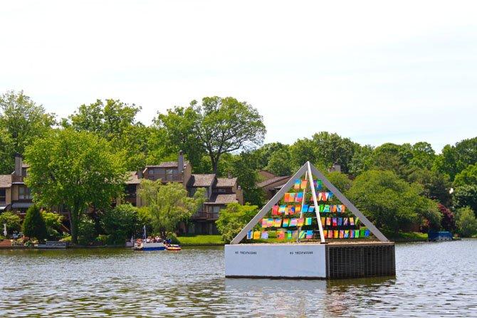 The Pyramid of Light on Lake Thoreau.