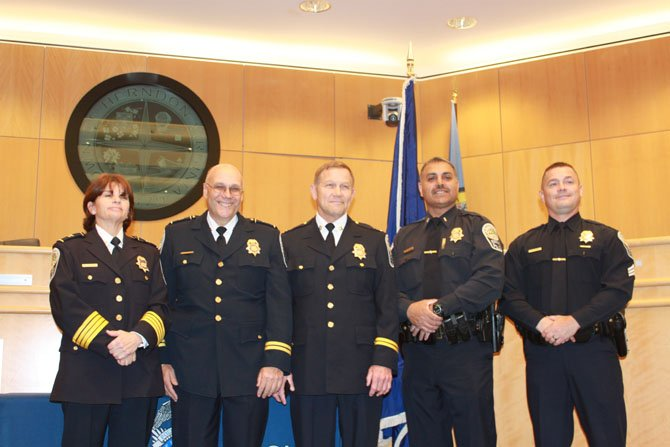 Three new promotions were celebrated at a ceremony last week.