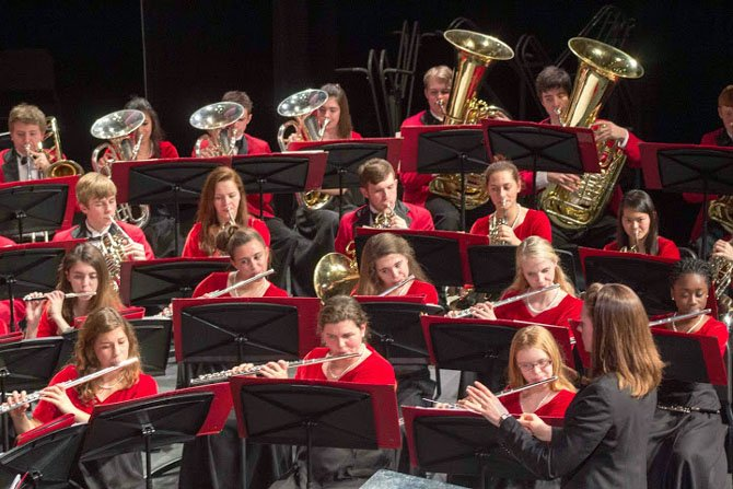 The Herndon High wind ensemble performed at the Spring Concert.
