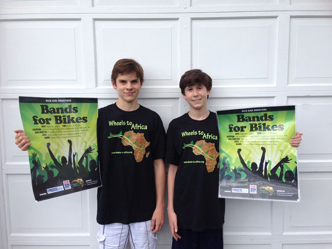 Morgan Poirier and Jack Lichtenstein, eighth graders at Cooper Middle School, are organizing 'Bands for Bikes' Concert on Saturday, June 7.