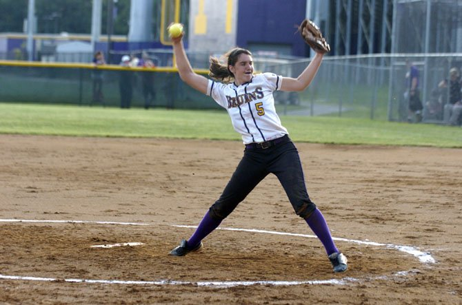 Lake Braddock pitcher Ashley Flesch allowed one run in 13 innings during the Bruins' 2-1 victory over Madison in the regional quarterfinals on June 2.