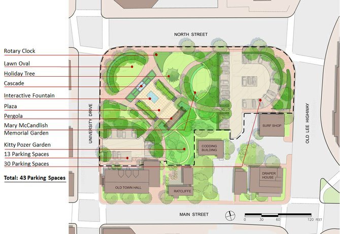 Diagram of the Old Town Square site plan.