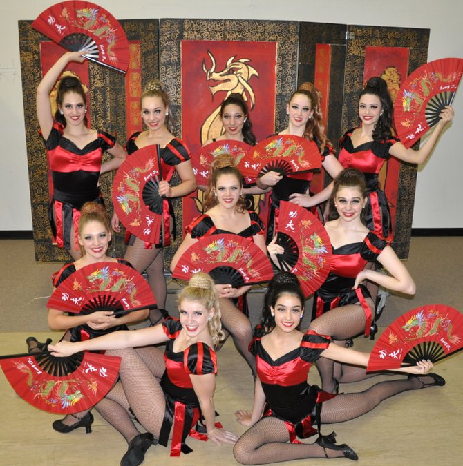 A visit to China: (Back row, from left) are Logan Floyd, Emma Konnick, Mikaela Vasconez, Sara Avery, Alia Artieda; (middle, from left) Renee Griese, Claire Griese, Jenna Frisby; (front row, from left) Jessy Dawson and Mariana Artieda.
