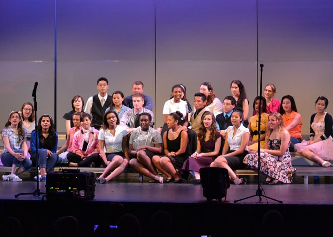 Members of Centreville's choir perform their senior song at last year's Broadway Pops concert.
