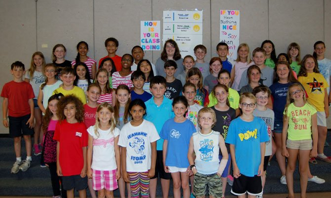 Over 50 students, many who are pictured here, participated in this year's STEM Fair at Silverbrook Elementary School.