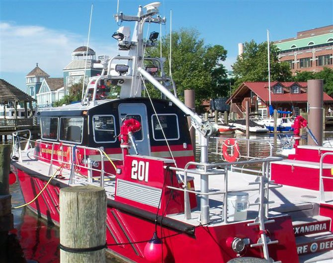 Fireboat Relief berthed but ready for duty.