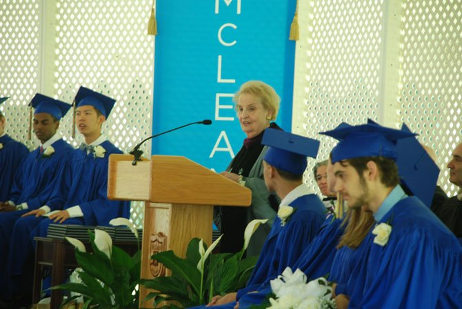 Madeline Albright speaks to the McLean School Class of 2014.