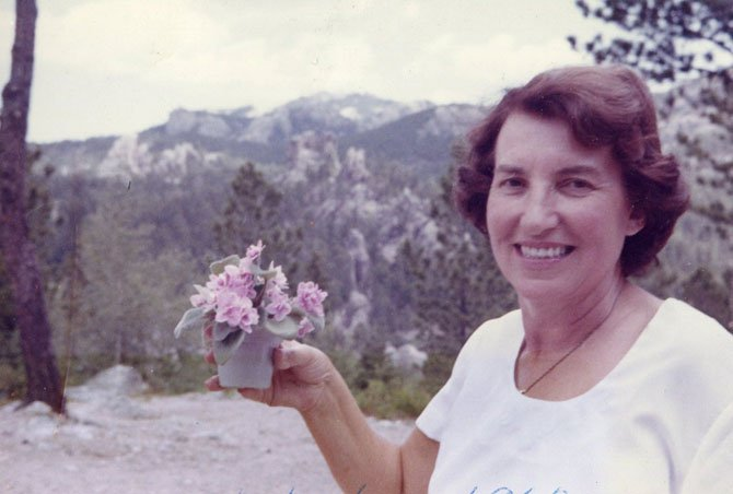 Rose Behnke at Sylvan Lake Lodge in 1962