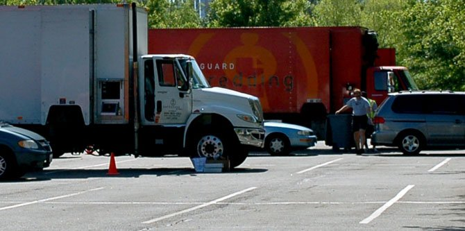 Four mobile shredding trucks were on hand to safely dispose of members' discarded materials.