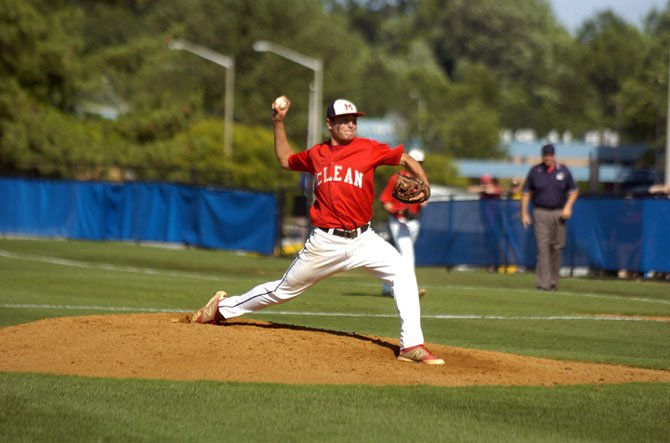 McLean senior Joey Sullivan pitched in his final game for the Highlanders on June 14.
