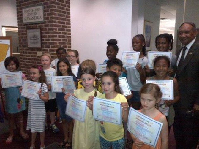 Young artists were honored at an awards and appreciation reception at City Hall on June 19.