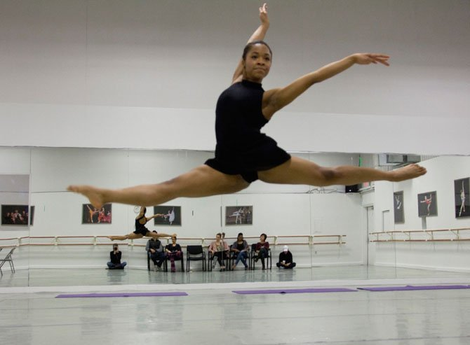 Alexandra Nix soars during a rehearsal at Classical Ballet Theatre.