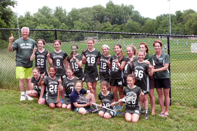 South County Colts girls lacrosse team G5/6A wins championship against Prince William Royals on Sunday, June 8 at Great Falls Nike Park in Herndon.