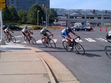 Hundreds of bikers embraced the challenging 1-mile closed course that circled around Tysons Boulevard and Westpark Drive.