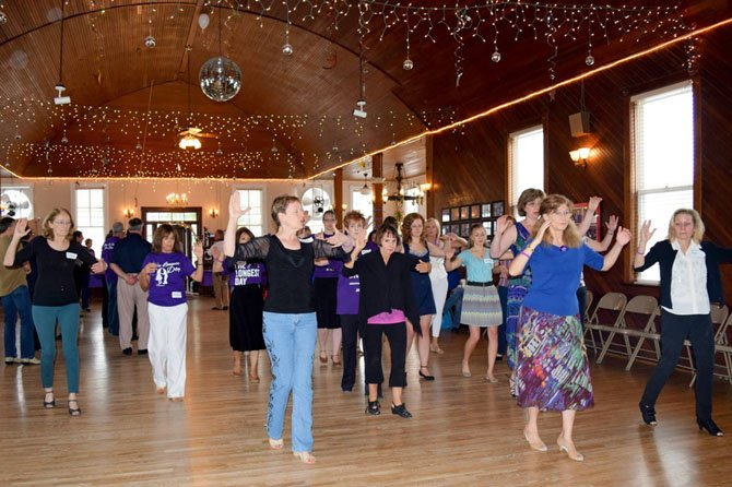 A dance was held June 21 in Colvin Run Community Hall to support Alzheimer Association's fundraising effort, The Longest Day.