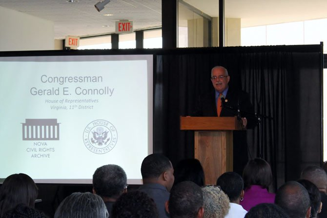 U.S. Rep. Gerry Connolly  (D-11) speaks at the Northern Virginia Civil Rights Archive Dedication Ceremony on July 7.