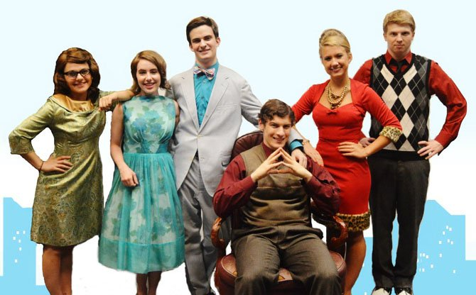 The show's leads are (from left) Shaina Greenberg, Maddy Ingram, TJ Vinsavich, Joshua Ewalt, Nora Winsler and Jamie Green.
