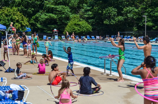 Lake Newport Pool is the Reston Association's largest outdoor pool, and hosted a 4th of July party. This was just one of many summer events scheduled at Reston pools.
