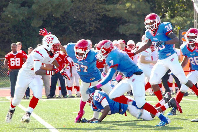 T.C. Williams graduate KyReem Walton (27) will play football at Fork Union Military Academy.