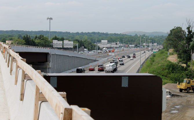 A view of the 95 Express Lanes construction. The lanes will be completed by the end of 2014.