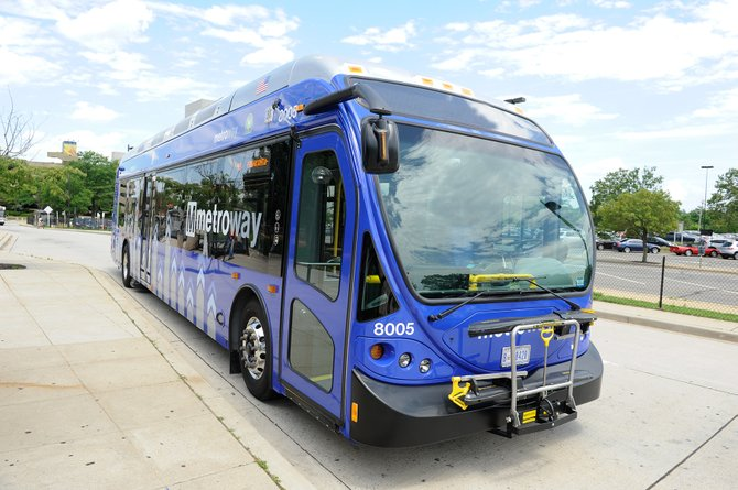The Metroway buses will have a different branding than the Metro buses that are already commonplace in the region.