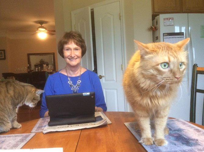 "Sharon Bulova with her cats: ""Animals add so much to your life!"""