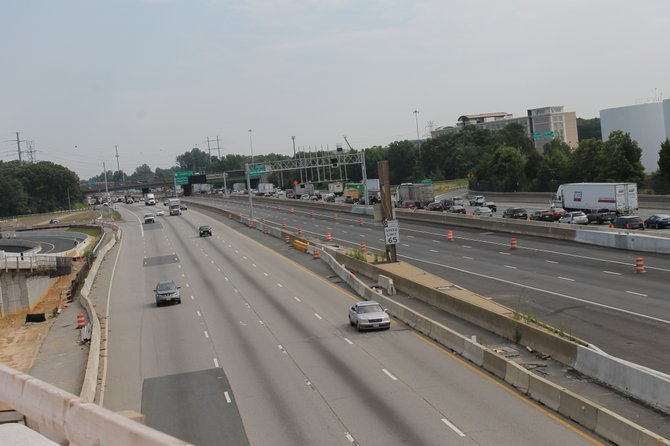 The proposed express lanes for Interstate 66 would be similar to those on Interstate 495 and those being constructed on Interstate 95 in Springfield, pictured here.