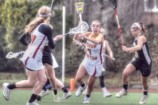 Former Bishop Ireton lacrosse player Kendall Cunningham is seen during her junior year in 2013.